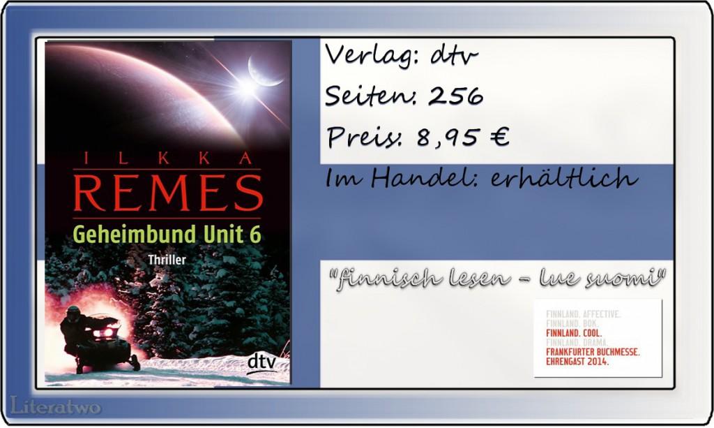 """Literatwo: """"Geheimbund Unit 6"""" ~ Ilkka Remes"""